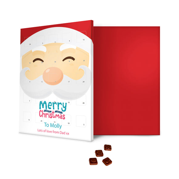 Smiling Santa Message Advent Calendar