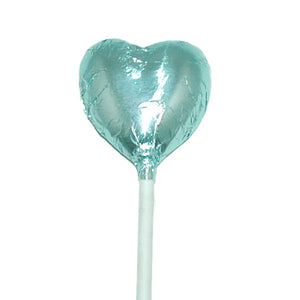 Mini Heart Lollipop Light Blue - 50pcs