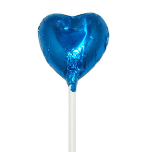 Mini Heart Lollipop Midnight Blue - 50pcs