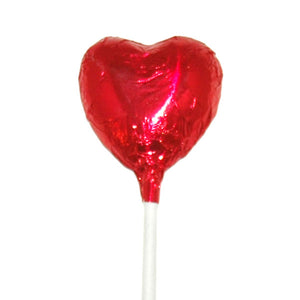 Mini Heart Lollipop Red - 10pcs