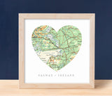 Hearts - 1 Map - Modern Nautical Typeface  $18 1 map, Birthday, Hearts, Moving A Gier Design A Gier Design