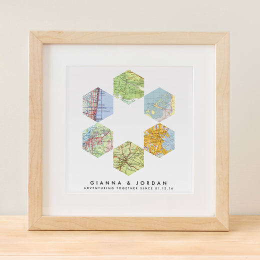 Geometric Map Art - 6 Custom Maps