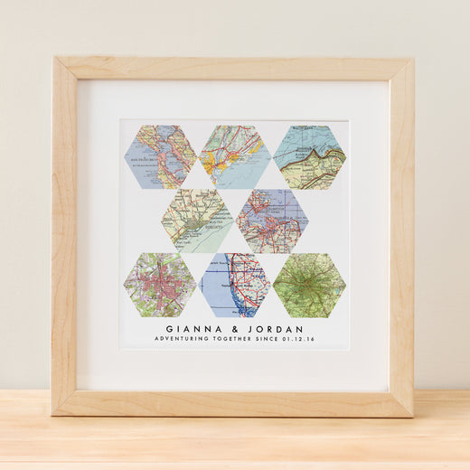 Geometric Map Art -  8 Customized Maps