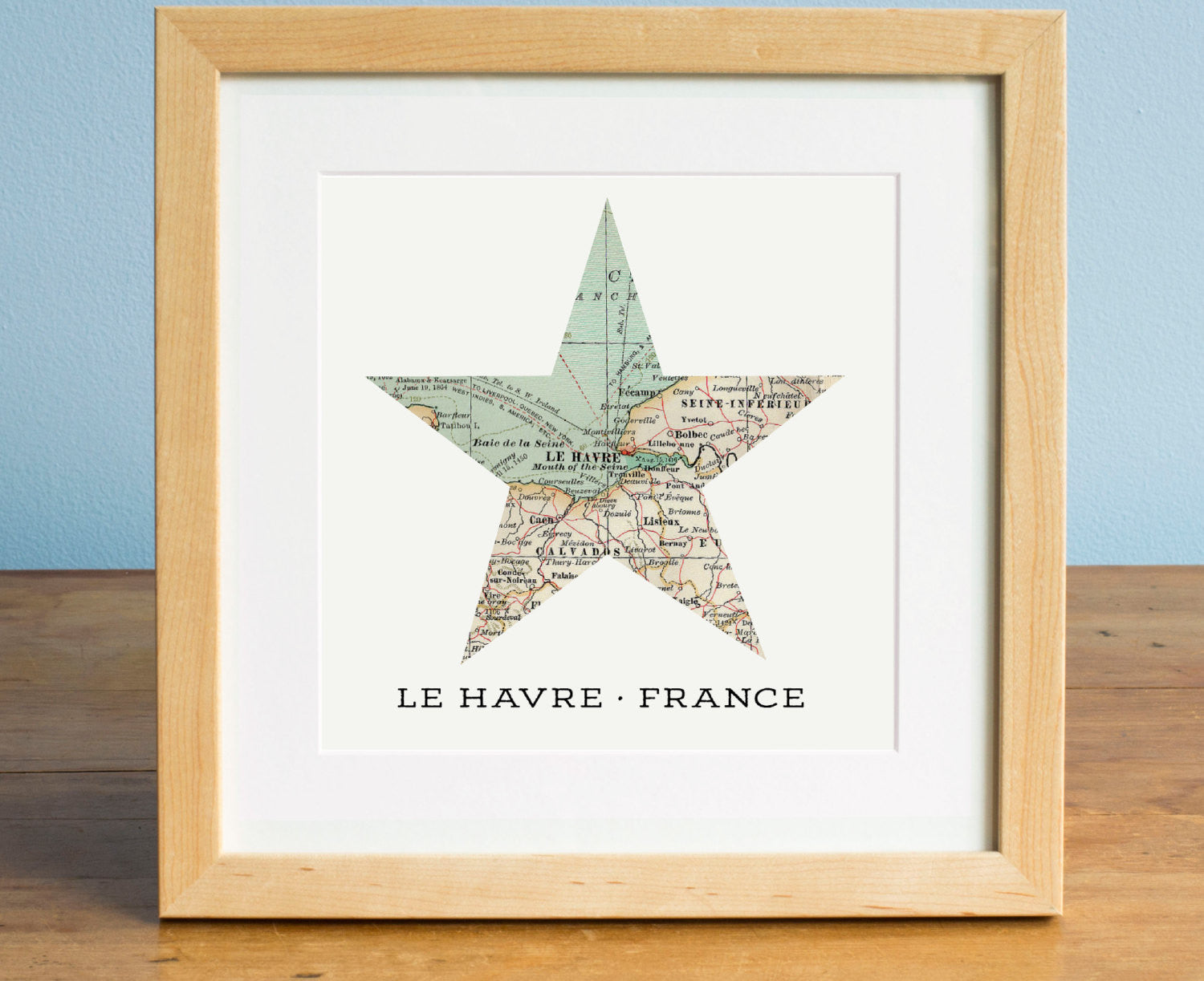 Any Location Star Map - Personalized Map Art - A Gier Design