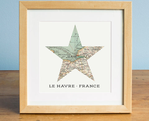 Any Location Star Map - Personalized Map Art