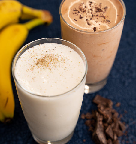 A ColdSnap Frozen Chocolate or Vanilla Protein Smoothie