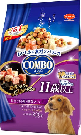 Japan combo 2 in 1 healthy dog snack square cut meat/vegetable mix 820g (suitable for dogs 11 years old or older)
