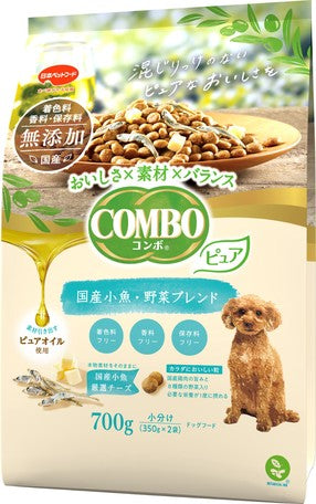 Japan combo two-in-one healthy dog snack without additives, pure Japanese carefully selected small fish/vegetable mix 700g