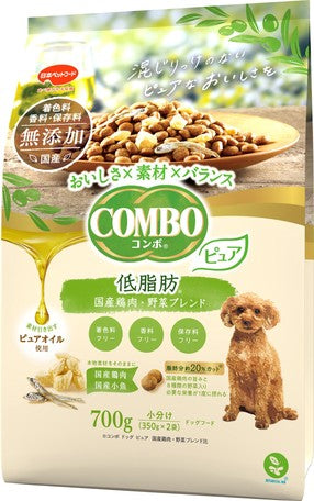 Japan combo two-in-one healthy dog snacks no added low-fat pure domestic chicken/vegetable mix 700g