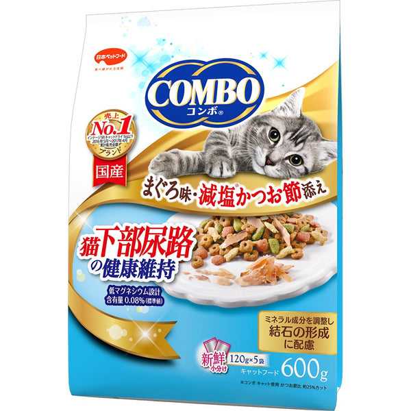 Japan combo two-in-one healthy cat snack, low sodium and anti-calculus urinary tract health maintenance formula 600g (120Gx5 packs)