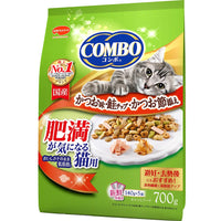Japan combo combo healthy cat snack (suitable for fat toot cats and post-neutralization) low-fat kang fish flavored dried bonito + dried salmon 700g (140Gx5 packs)