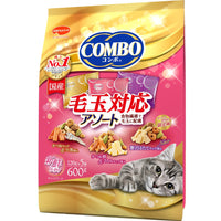 Japan combo 3 in 1 healthy cat snacks, hair ball formula seafood platter 600g (120Gx5 pack)