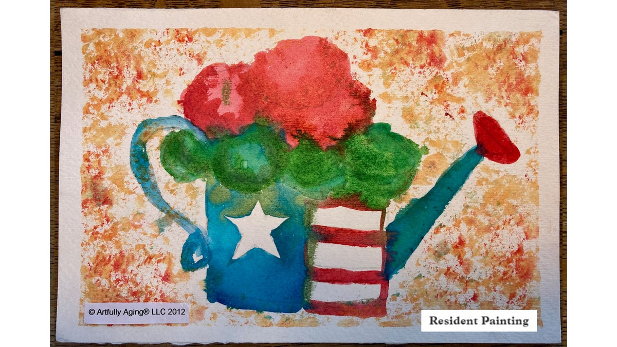 Patriotic Watering Can