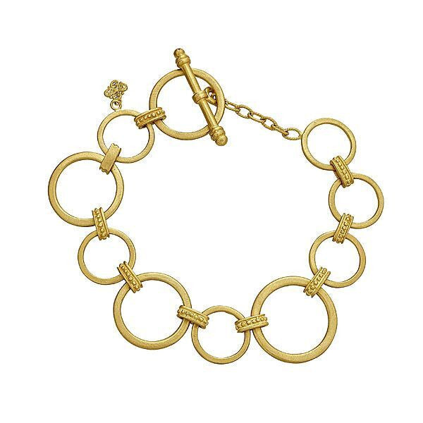 18K Royal Couture Link Chain with Toggle Bracelet