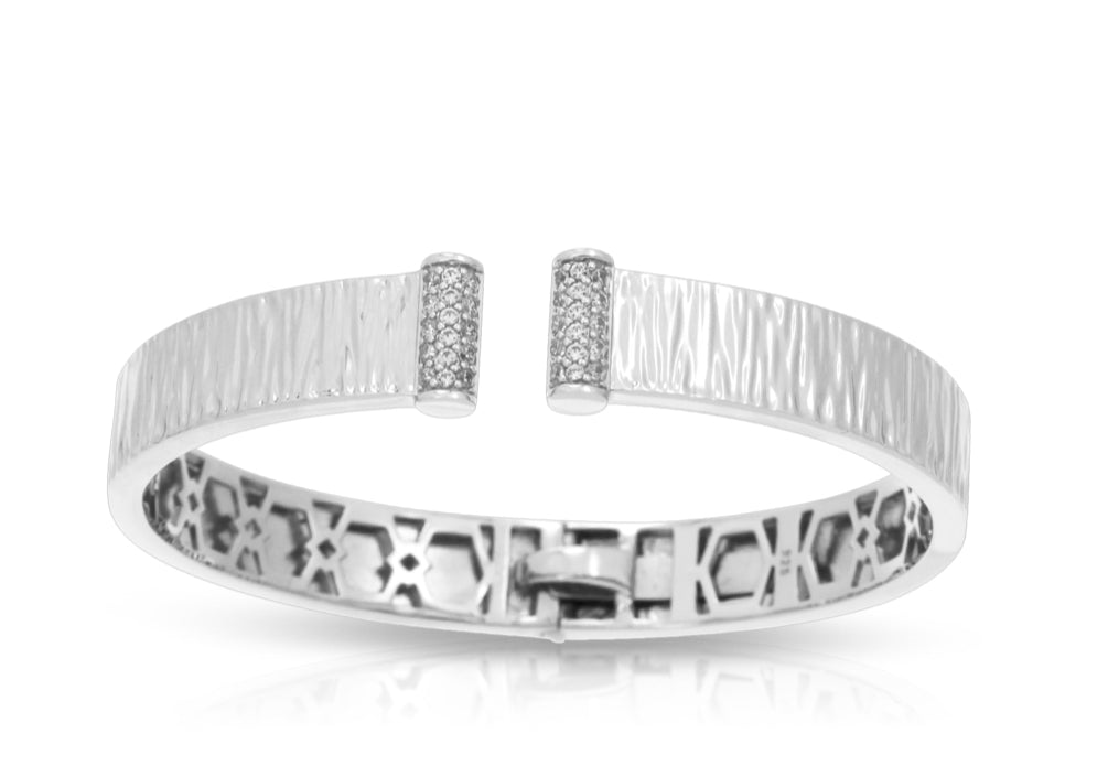 Sterling Silver & CZ Bangle