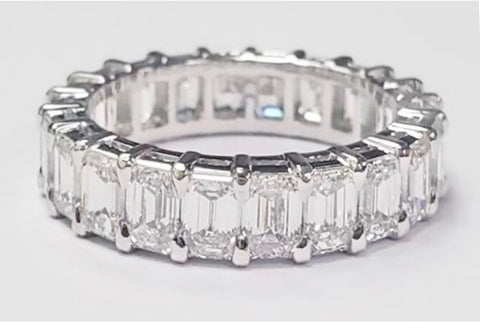 Platinum & Diamond Emerald Eternity Ring