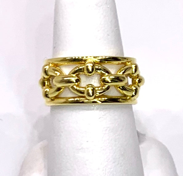 14K Yellow Gold Chain Style Ring