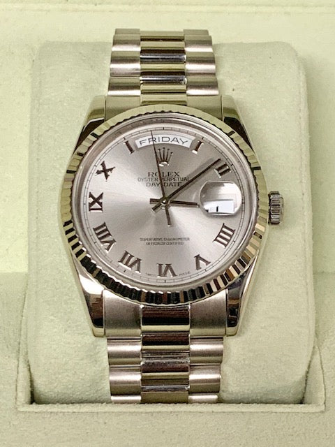 Pre Owned Day/Date President 18K White Gold Rolex