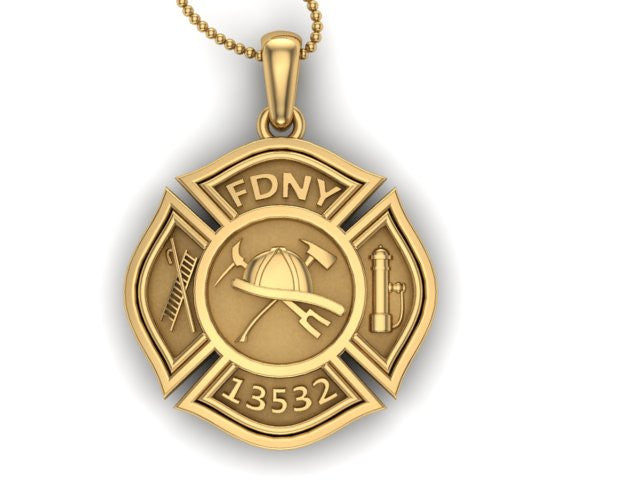 Custom Firefighter Medallion