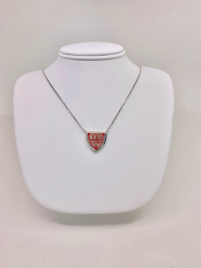 Sterling Silver & Red Enamel Necklace Custom Crafted