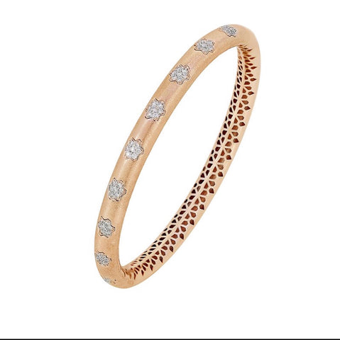 18K Diamond Rose Gold Bangle