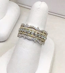 14K Yellow & White Gold Diamond Ring