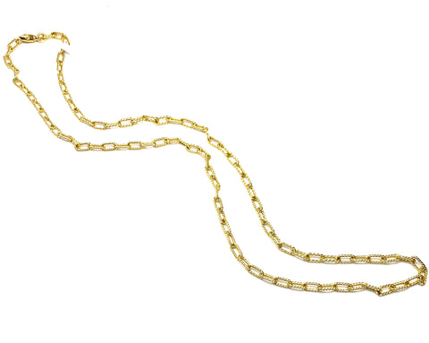 18K Yellow Gold 24 Inch Necklace.