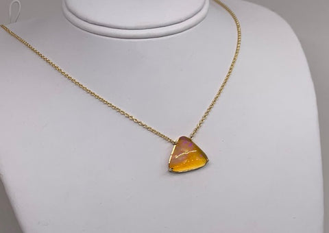 Custom Fire Opal Necklace
