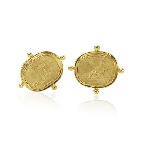 14K Cast Coin Earring