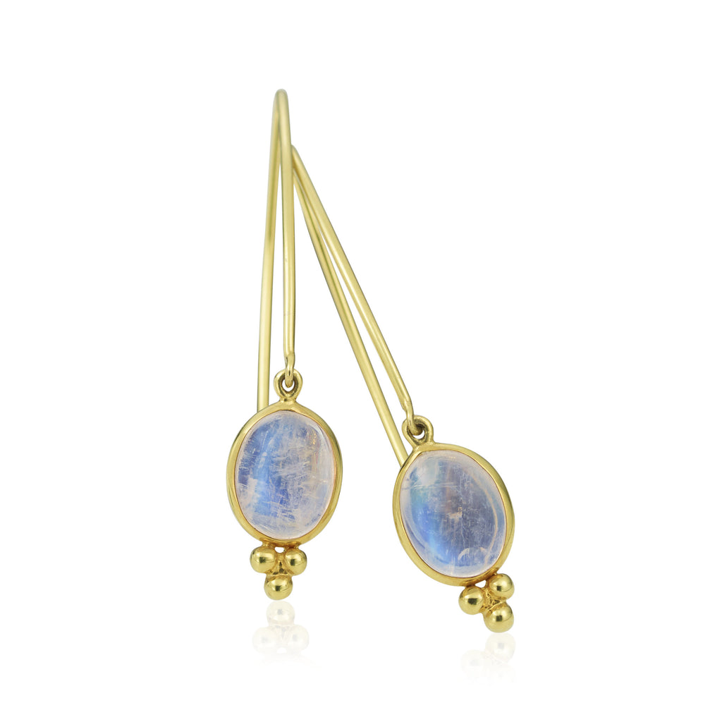 14K Moonstone Earrings
