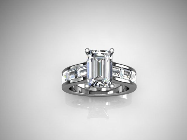 Custom Design Solitaire Ring