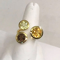 14K Yellow Gold Semi Precious Stone Ring