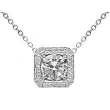 18K and Platinum Diamond Pendant Setting