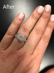 Custom Ladies 18K White Gold Diamond Engagement Ring