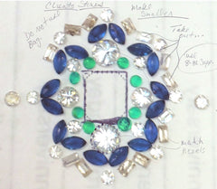 Custom Diamond, Sapphire, and Emerald Ring