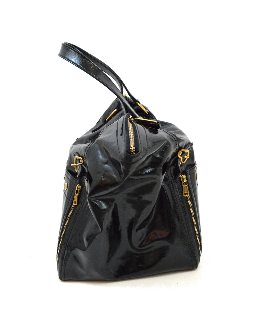 9fafb35577c ... mini downtown tote shop ysl clutch - YSL Downtown Tote black patent  leather trapeze Yves Saint Laurent . ...