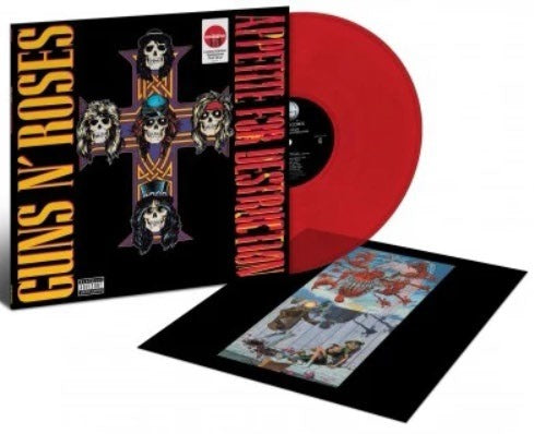 Guns N' Roses ‎– Appetite For Destruction Target Exclusive Red Translucent Vinyl