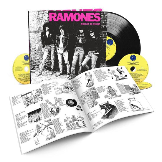 RAMONES - Rocket To Russia Numbered 3CD + LP Book 40th Anniversary Edition