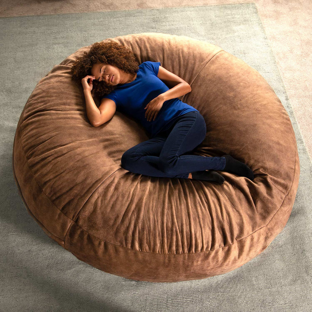 Jaxx 6' Cocoon Adult Bean Bag - Saddle Brown