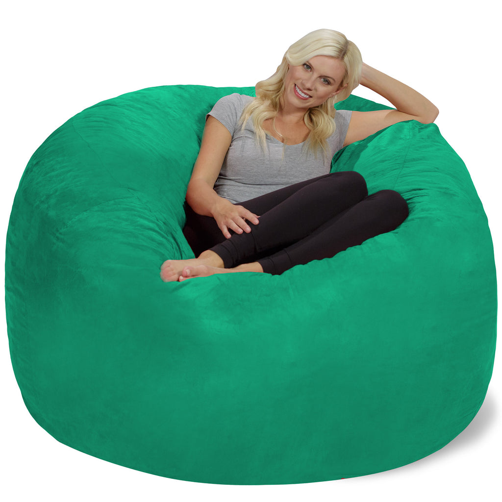 Relax Sacks 6' Large Bean Bag Chair - Tide Pool Green