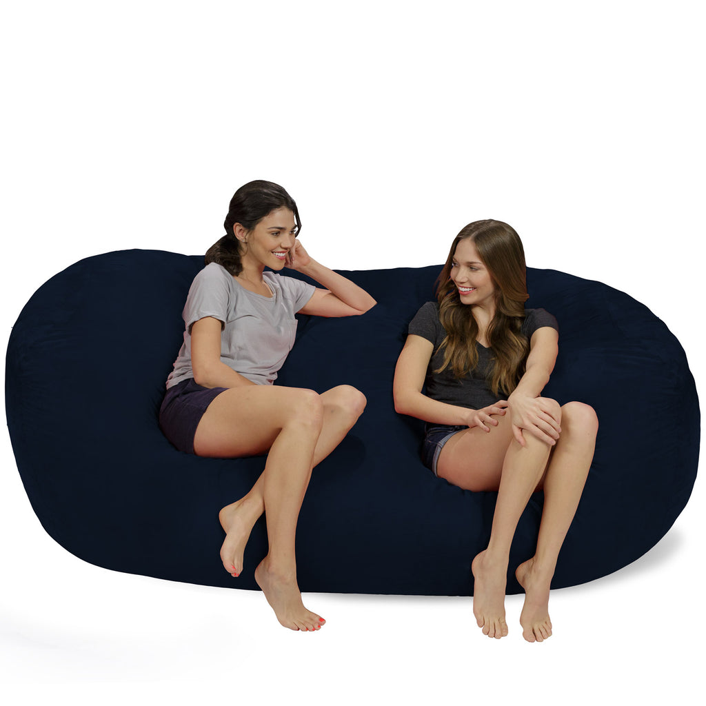 Relax Sacks 7.5' Giant Bean Bag Couch - Navy Blue