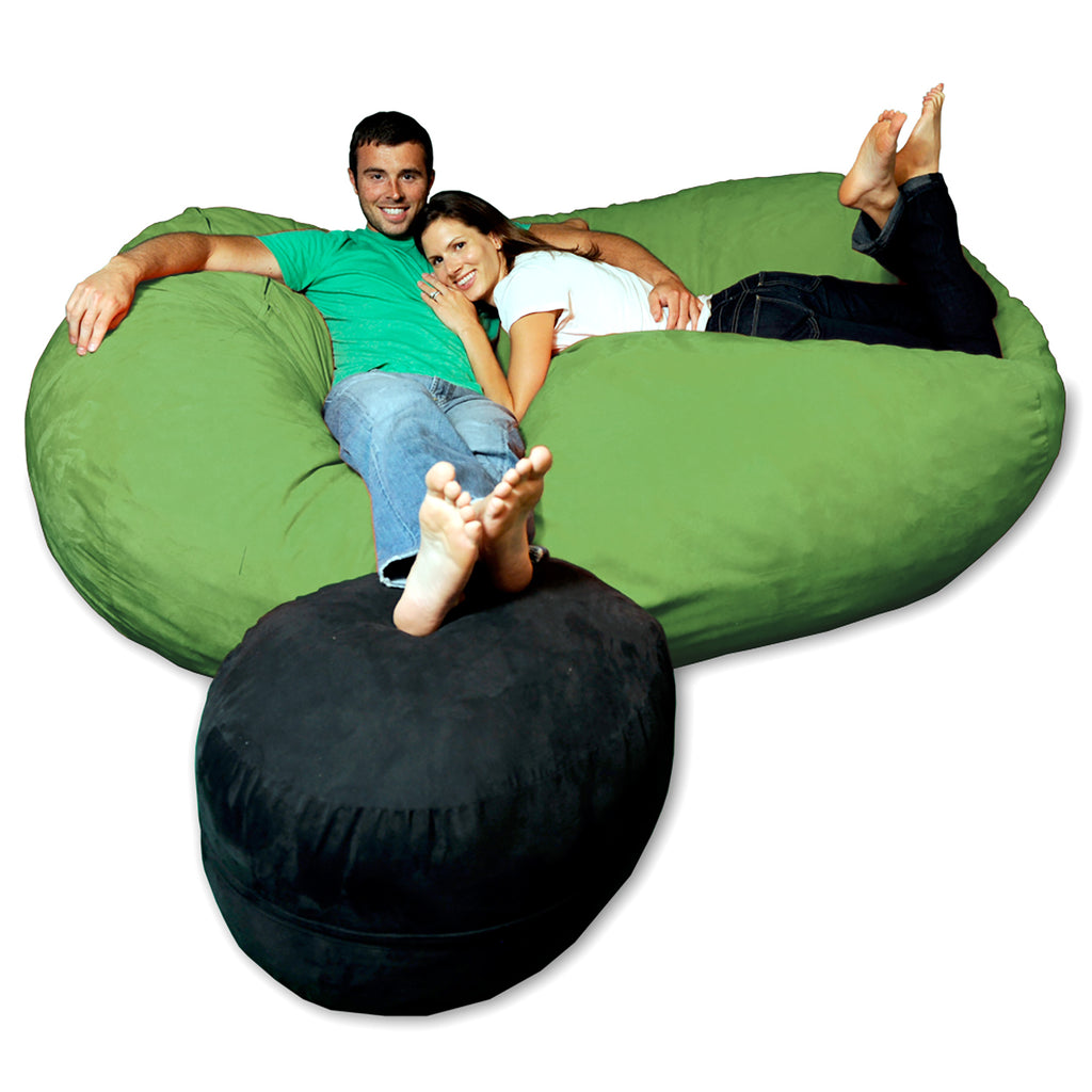 Theater Sacks 7.5' Giant Bean Bag Couch - Lime Green