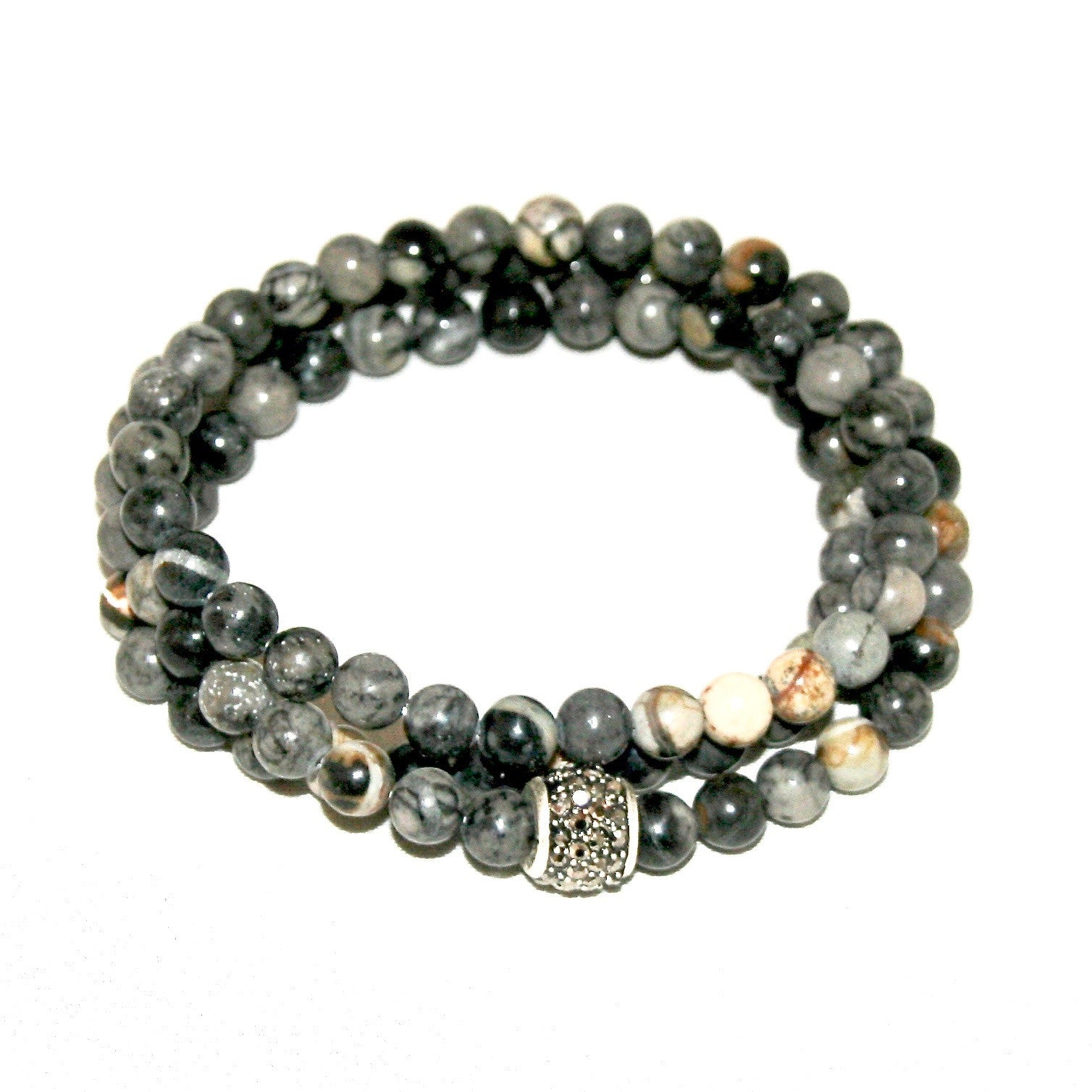 img tube grey usa wrap bracelet copy jasper sparkle amies triple of deux products