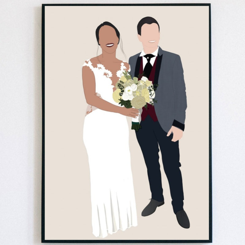 Wedding custom portrait - Lauraussie