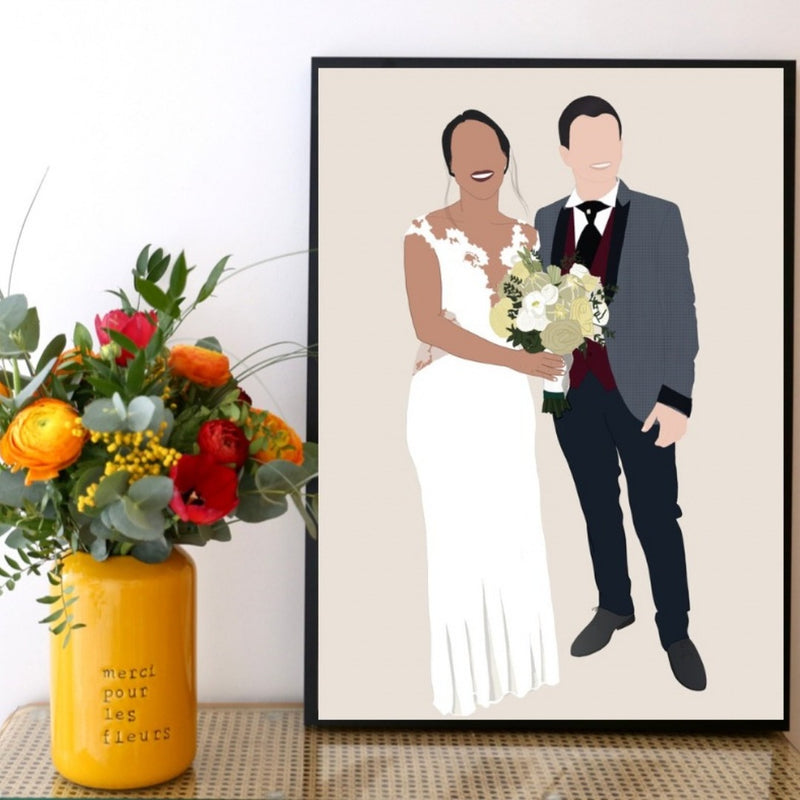 Wedding custom portrait - Lauraussie 2