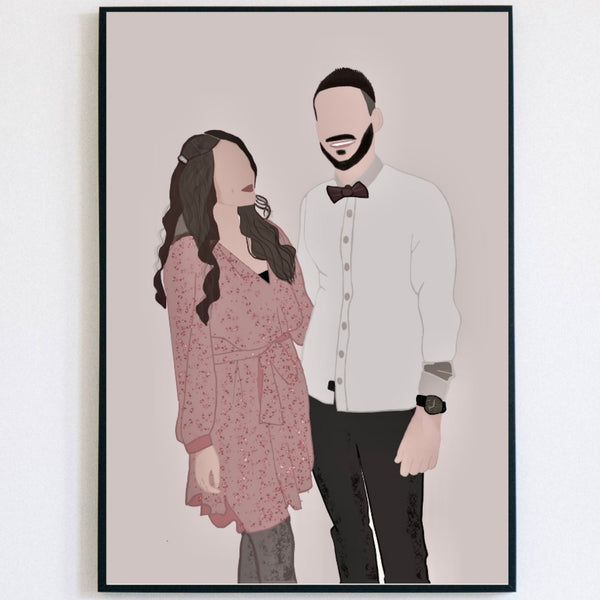 Couple custom Portrait - Lauraussie
