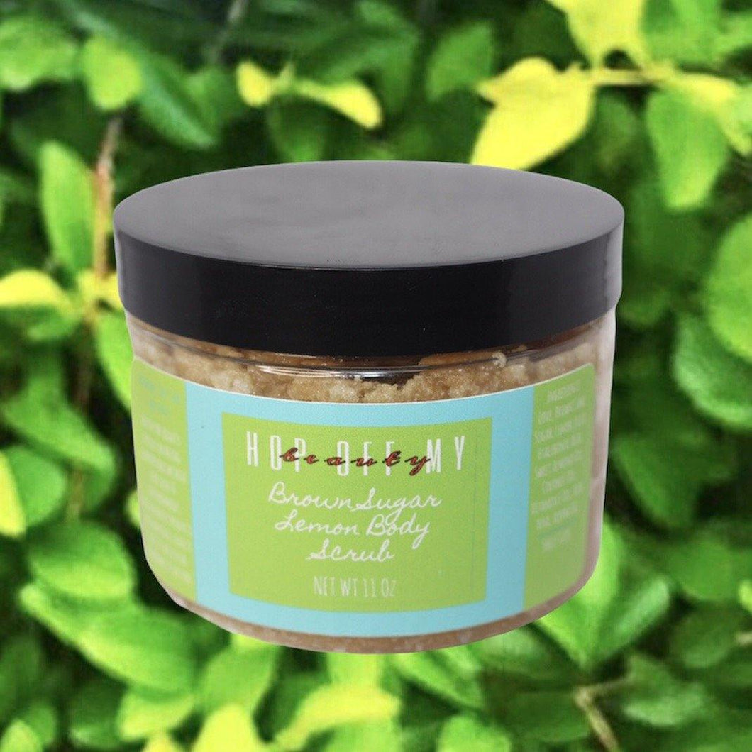 Brown Sugar Lemon Body Scrub - Hop Off My Beauty