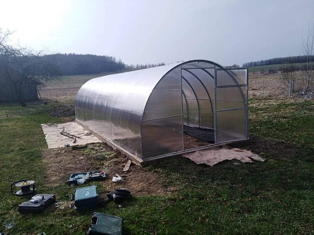 GREENHOUSE EXTRA STRONG 3m X 10m (9.8ft X 33ft) 30 M²