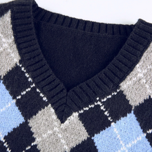 Load image into Gallery viewer, Blue Argyle Sweater Vest