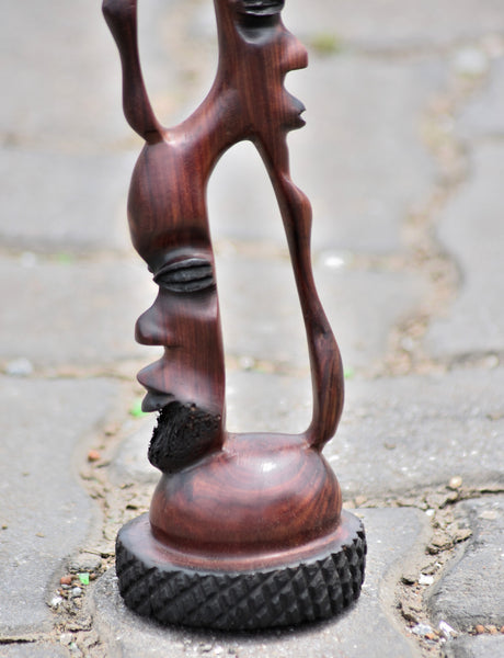 "Handmade  Abstract ""Paradisco"" Wood Carving"